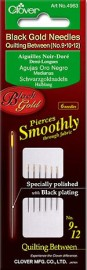 Black Gold Quilting Needles 9,10,12 (6 in Pkg)